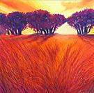 Field of Fire - Oil Pastel