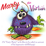 Marty the Martian and his whifflebangs