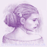 Persephone - Conté drawing print