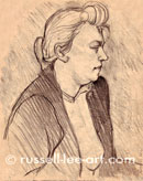 Portrait Of Gabrielle (after Henri de Toulouse-Lautrec) Pencil (nfs)