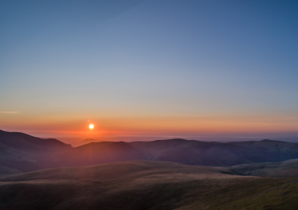 Sunset over Skiddaw from Blencathra