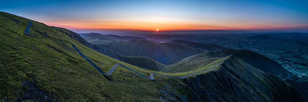 Panorama of Sunrise over Blencathra