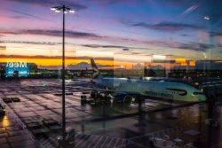 T5 Heathrow at sunset
