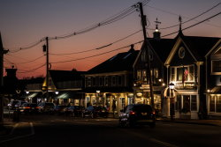 Sunset in Kennebunkport Town Centre