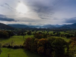 View over Keswick and Derwentwater from Applethwaite
