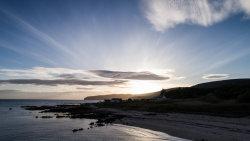 Sunset over Kildonan, Arran, Scotland