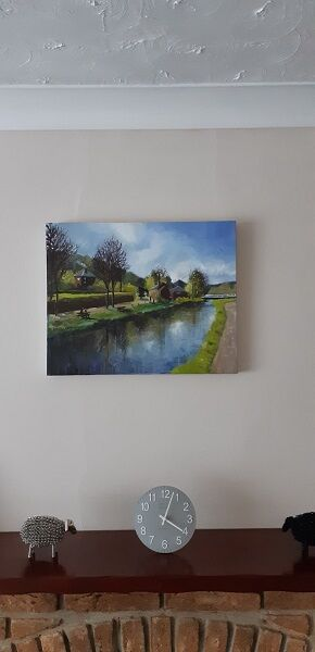 Cromford Canal painting