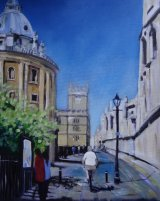 "Radcliffe Camera 16 x 20"" acrylic on canvas board"