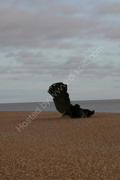 Aldeburgh Beach - Scallop Sculpture - Suffolk