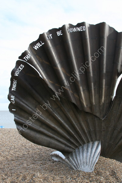 Maggi Hambling's Scallop Sculpture - Aldeburgh Beach