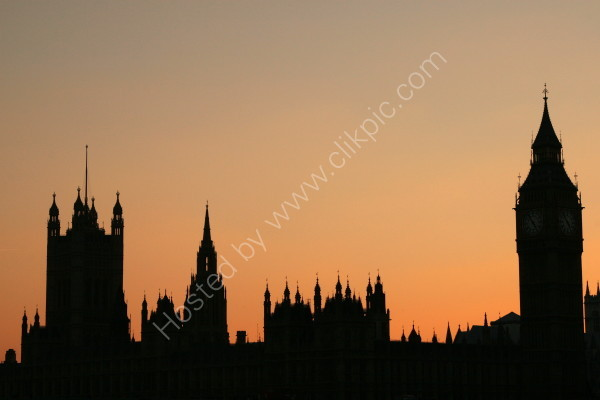 Houses of Parliament - Silhouette 1