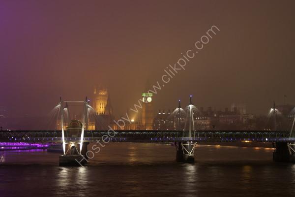The Misty City from Waterloo Bridge