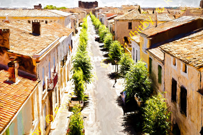 Street in Aigues Mortes