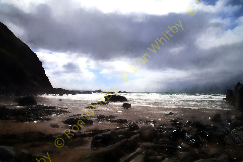 Stormy Day at Duckpool, Cornwall