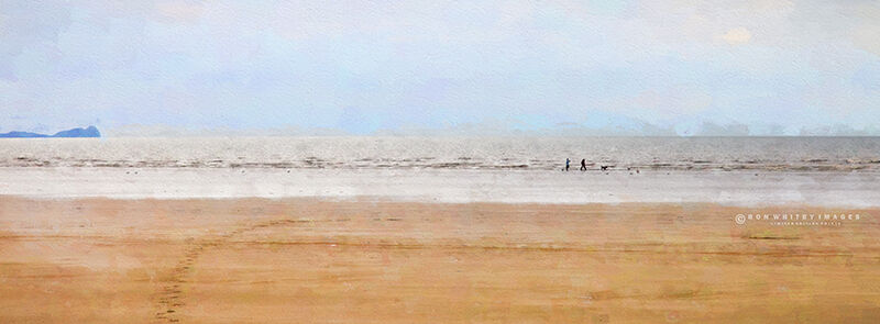Couple on Cefn Sidan Beach