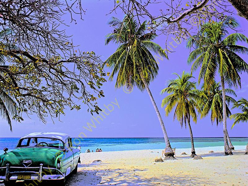 Car on Beach - Cuba