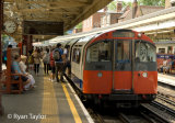 London Underground Train At Barons Court