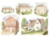 Watercolour 'New Build' artist's impressions