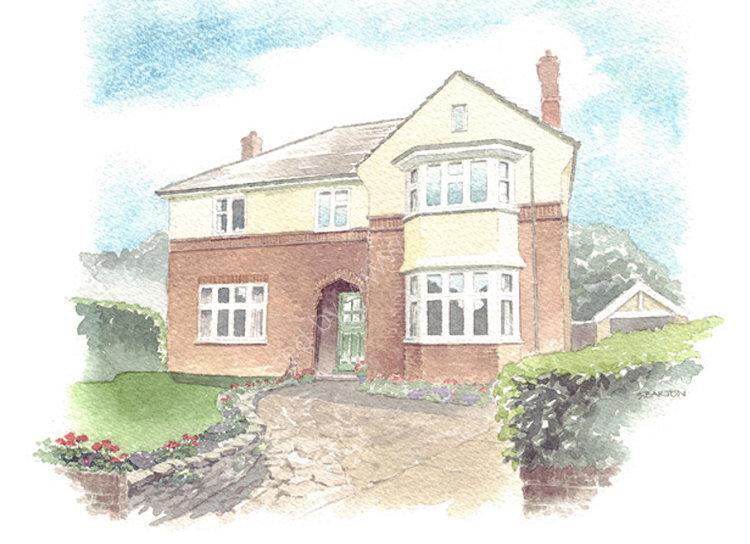 commissionahouseportrait_sallybarton_watercolourportrait_1930shouse