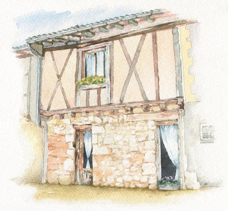 HousePortrait_watercolour_SallyBarton_FrenchHouse