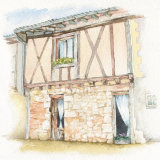 House portrait: French terraced house. a4