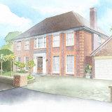 House portrait: North London house. A3