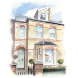 House portrait: terraced house, Windsor. A5
