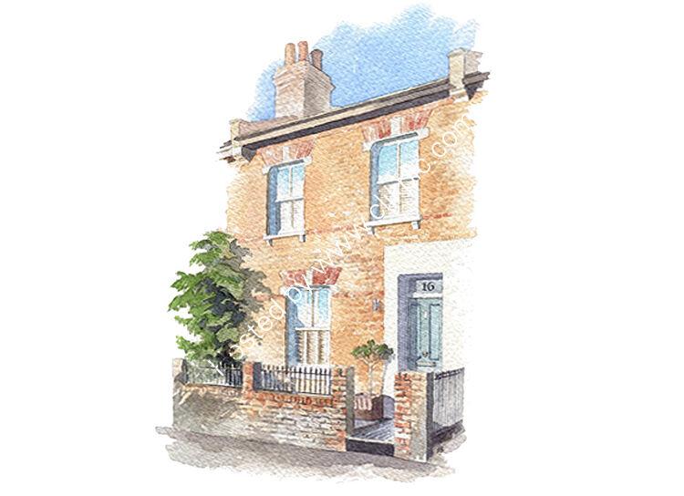 commissionahouseportrait_watercolourportrait_sallybarton_terracedhouse