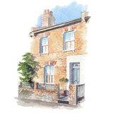 House portrait. Terraced house. A5