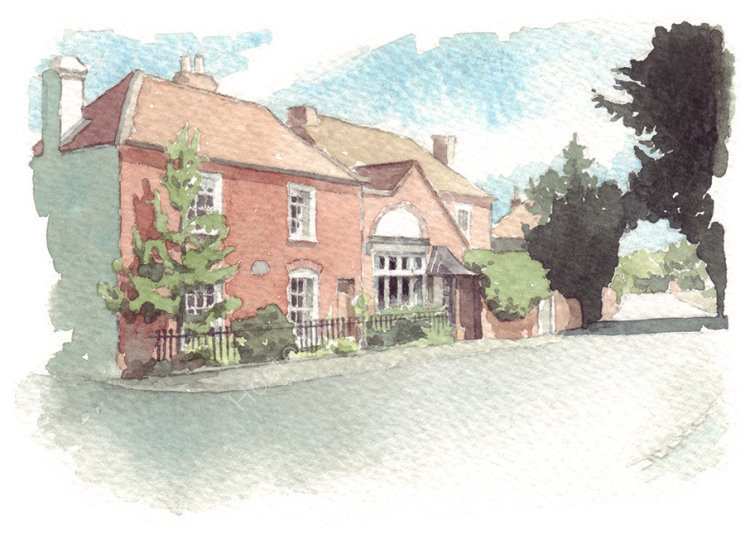 commissionawatercolourportrait_houseportrait_sallybarton_RegencyHouse