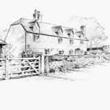 House portrait: pencil sketch. A5