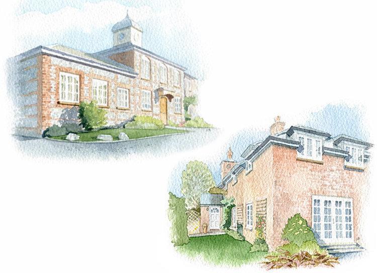 HousePortrait_watercolour_SallyBarton_EstateHouses