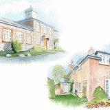 House portrait montage. A4