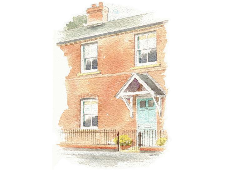 commissionahouseportrait_Watercolour _sallybarton_terracedhouse