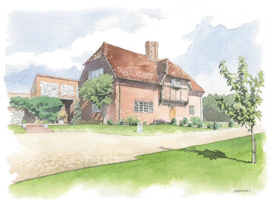 House portrait. 'Hill Top'. A4