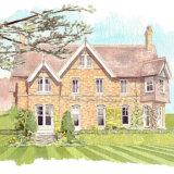 House portrait: Holly House. A4