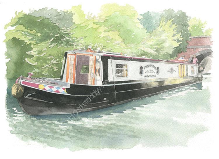 houseportrait_sallybarton_narrowboat_watercolourportrait
