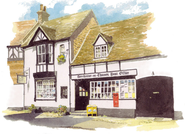 commissionahouseportrait_village house_Dorchesterpostoffice_sallybarton