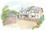 House portrait of new build. A4