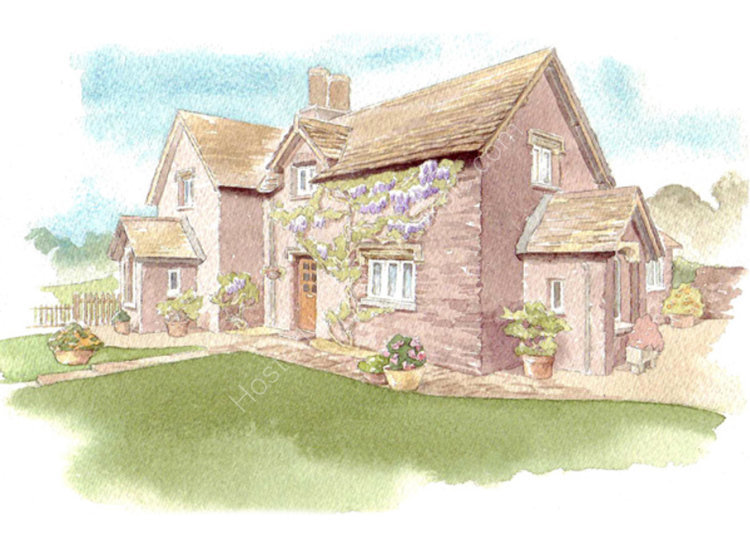 commissionahouseportrait_watercolour_portrait_cottage_sallybarton