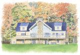 House portrait: large dwelling, Vermont, USA.A3