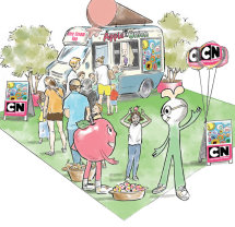 Concept visual for Cartoon Network event