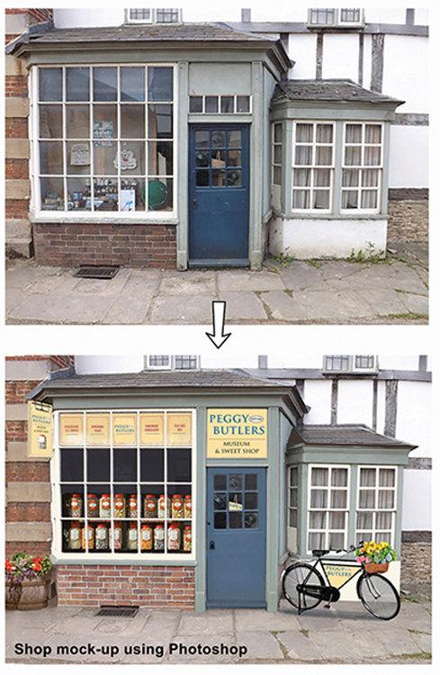 Photoshop Render. Shop visual