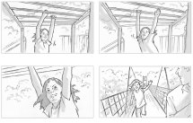 Storyboards for Disney's 'Healthily Ever After' campaign