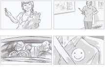 From a series of storyboards for Merck & Co