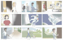 Storyboards for pharmaceutical pitch