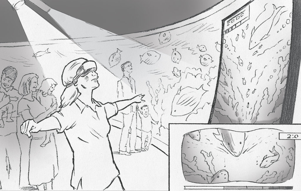 Concept visual for virtual reality activity - 'sea turtles'