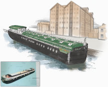 Visual for barge conversion
