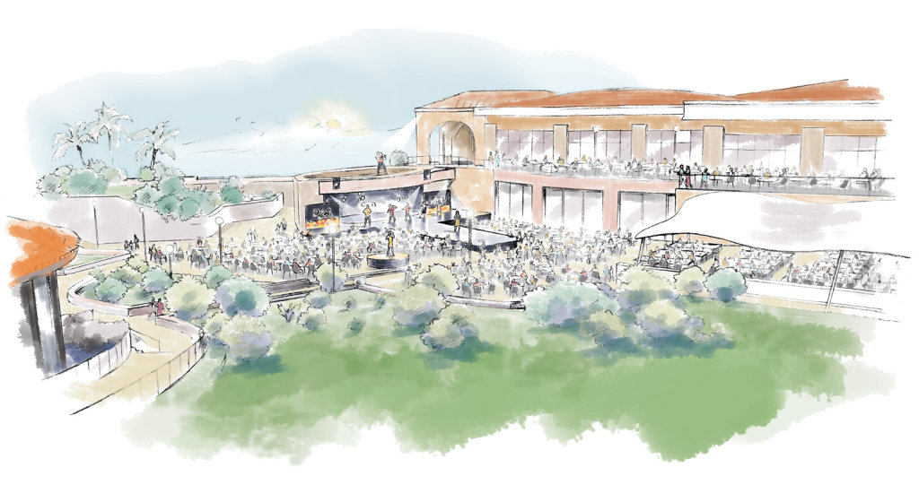 'Artist's impression' for music staging