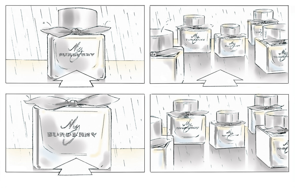 From a series of frames for 'My Burberry' fragrance